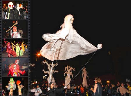 2008 年 10 月 31 日、マンハッタン - 以上 200 万人と世界で最大のハロウィーン パレードに出席しました。写真はパレードの場所に geo タグです。