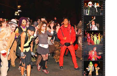 attended: El 31 de octubre de 2008, En el que asistieron Manhattan - el desfile de Halloween m�s grande del mundo con m�s de 2 millones de personas. La foto es etiquetado como geo en la ubicaci�n de desfile.  Editorial