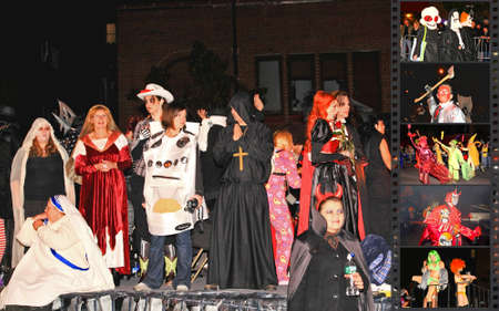 Oct 31, 2008,  Manhattan - The largest Halloween Parade in the world with over 2 million people attended. The photo is geo-tagged at the parade location.