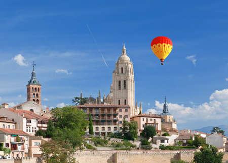 Segovia cathedral, World Heritage town Segovia, Spain  Фото со стока