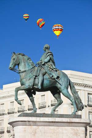 carlos: Statue of Carlos III, Puerta del Sol, Madrid, Spain