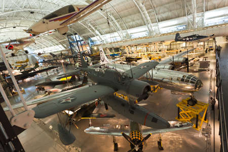 pioneers: CHANTILLY, VA - FEBRUARY 21: the Steven F. Udvar-Hazy Center is the new addition to the National Air and Space museum in Washington DC, which opened in Dec. 2003.