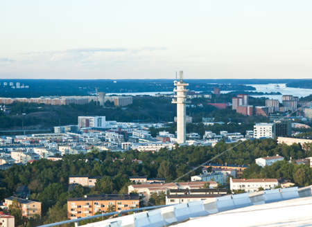 aerial view of great Stockholm area Sweden photo