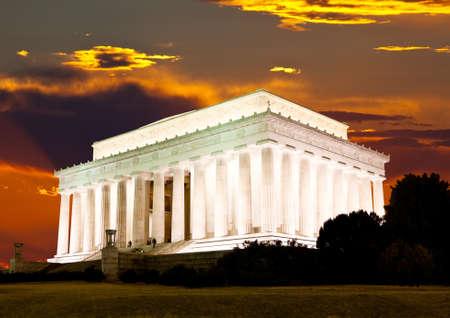 Het Lincoln-gedenkteken in Washington DC de VS