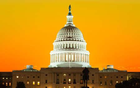 winter sunrise: United States Capitol Building in Washington DC