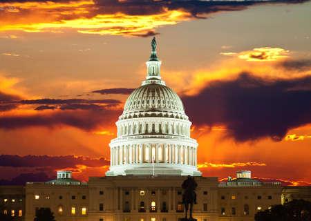 Verenigde Staten Capitool in Washington DC Stockfoto