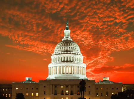 vote: United States Capitol Building in Washington DC