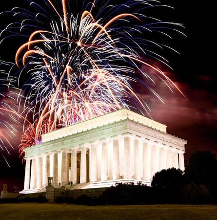 dc: Il Lincoln memorial di Washington DC USA Archivio Fotografico