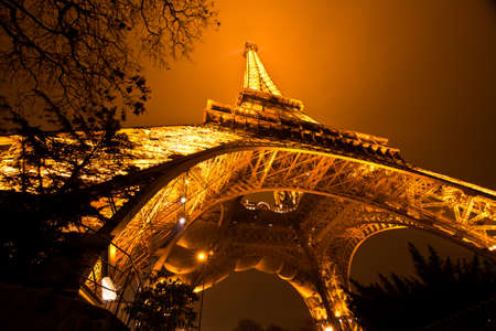 historical landmark: PARIS, FRANCE - DECEMBER 2: Ceremonial lighting of the Eiffel tower on  DECEMBER 2, 2010 in Paris, France. The Eiffel tower is the most visited monument of France. Editorial