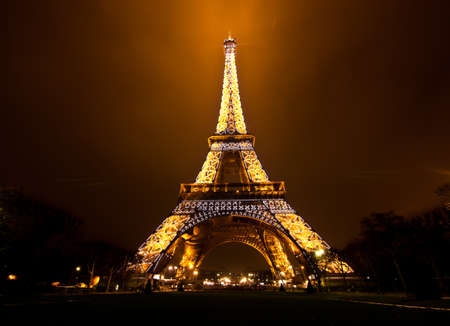 most: PARIS, FRANCE - DECEMBER 2: Ceremonial lighting of the Eiffel tower on  DECEMBER 2, 2010 in Paris, France. The Eiffel tower is the most visited monument of France. Editorial