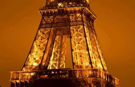 PARIS, FRANCE - DECEMBER 2: Ceremonial lighting of the Eiffel tower on  DECEMBER 2, 2010 in Paris, France. The Eiffel tower is the most visited monument of France. Stock Photo - 9232280