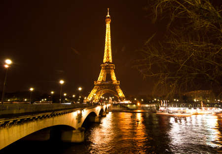 PARIS, FRANCE - DECEMBER 2: Ceremonial lighting of the Eiffel tower on  DECEMBER 2, 2010 in Paris, France. The Eiffel tower is the most visited monument of France. Stock Photo - 9232277