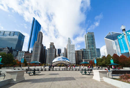 CHICAGO, USA - NOVEMBER 14: The Millennium Park in downtown Chicago on November 14, 2010, which costs $475 million and is completed in 2004, a major construction since the World's Exposition of 1893. Stock Photo - 9256603