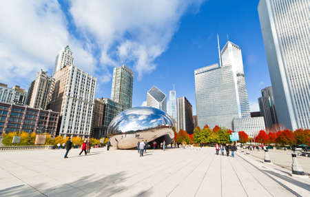 CHICAGO, USA - NOVEMBER 14: The Millennium Park in downtown Chicago on November 14, 2010, which costs $475 million and is completed in 2004, a major construction since the World's Exposition of 1893. Stock Photo - 9256606
