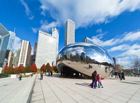 CHICAGO, USA - NOVEMBER 14: The Millennium Park in downtown Chicago on November 14, 2010, which costs $475 million and is completed in 2004, a major construction since the World's Exposition of 1893. Stock Photo - 9256608