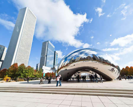 CHICAGO, USA - NOVEMBER 14: The Millennium Park in downtown Chicago on November 14, 2010, which costs $475 million and is completed in 2004, a major construction since the World's Exposition of 1893. Stock Photo - 9256600