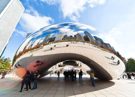 CHICAGO, USA - NOVEMBER 14: The Millennium Park in downtown Chicago on November 14, 2010, which costs $475 million and is completed in 2004, a major construction since the Worlds Exposition of 1893. Editöryel
