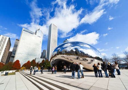 CHICAGO, USA - NOVEMBER 14: The Millennium Park in downtown Chicago on November 14, 2010, which costs $475 million and is completed in 2004, a major construction since the World's Exposition of 1893. Stock Photo - 9256611