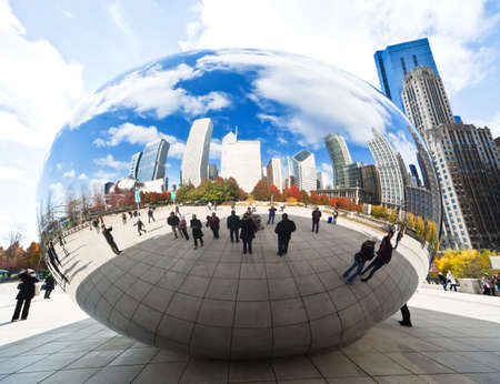 michigan: CHICAGO, USA - NOVEMBER 14: The Millennium Park in downtown Chicago on November 14, 2010, which costs $475 million and is completed in 2004, a major construction since the Worlds Exposition of 1893. Editorial