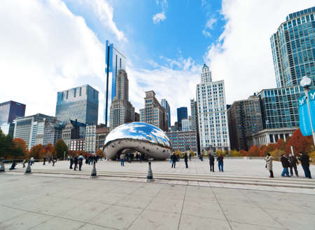 stainless: CHICAGO, USA - NOVEMBER 14: The Millennium Park in downtown Chicago on November 14, 2010, which costs $475 million and is completed in 2004, a major construction since the Worlds Exposition of 1893. Editorial