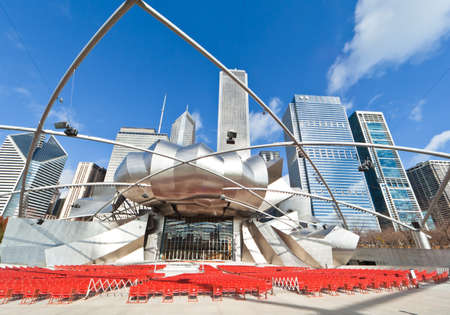 CHICAGO, USA - NOVEMBER 14: The Millennium Park in downtown Chicago on November 14, 2010, which costs $475 million and is completed in 2004, a major construction since the World's Exposition of 1893. Stock Photo - 9271941