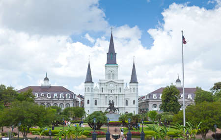 louisiana state: Saint Louis Cathedral and Jackson Square in the French Quarter New Orleans