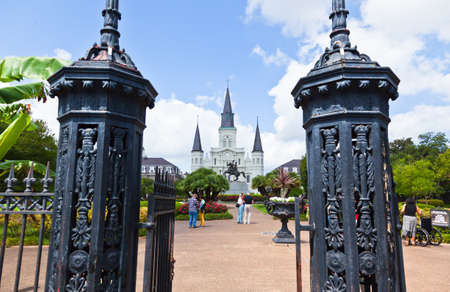 jackson: Saint Louis Cathedral and Jackson Square in the French Quarter New Orleans