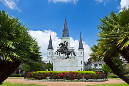 Saint Louis Cathedral and Jackson Square in the French Quarter New Orleans photo
