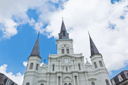Saint Louis Cathedral in Jackson Square in New Orleans photo