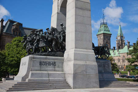 The National War Memorial in downtown Ottawa