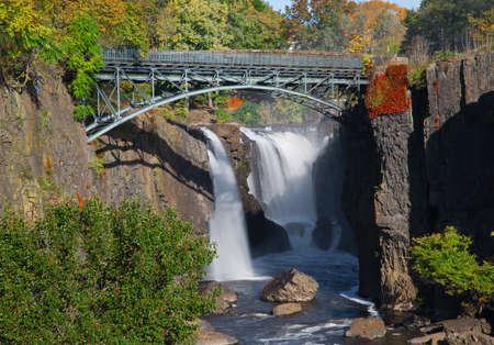 De Great Falls in Paterson, New Jersey Stockfoto