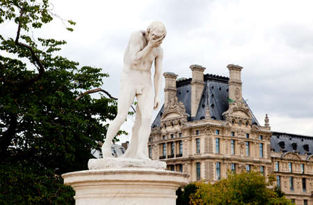 statuary garden: Paris - Statue from Tuileries garden near the Louvre