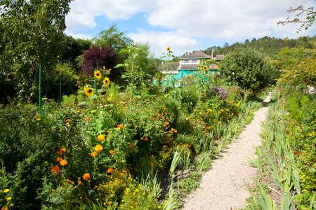 monet: Claude Monet garden and house near Paris France Stock Photo