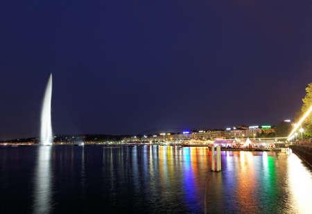Genève jet d'eau sur le lac Leman
