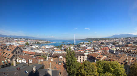 A Panoramic View of Geneva and Lake Leman photo