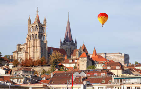 City of Lausanne in the west of Switzerland Stock Photo