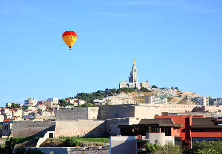 Cathedral Notre Dame in Marseille City, France photo
