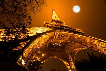 lighten: PARIS, FRANCE - DECEMBER 2  Ceremonial lighting of the Eiffel tower on  DECEMBER 2, 2010 in Paris, France  The Eiffel tower is the most visited monument of France  Editorial