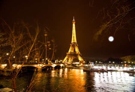 paris night: PARIS, FRANCE - DECEMBER 2  Ceremonial lighting of the Eiffel tower on  DECEMBER 2, 2010 in Paris, France  Built in 1889, it has become both a global icon of France and one of the most recognizable structures in the world