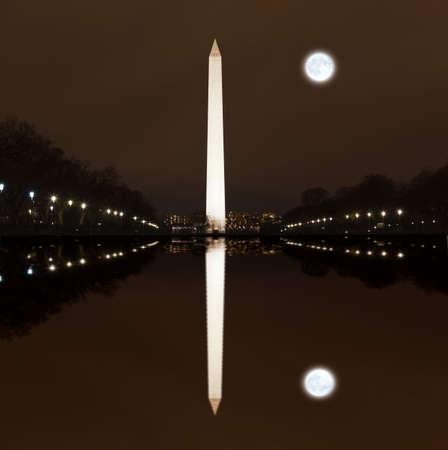 streaking: Washington Memorial at Night in Washington DC