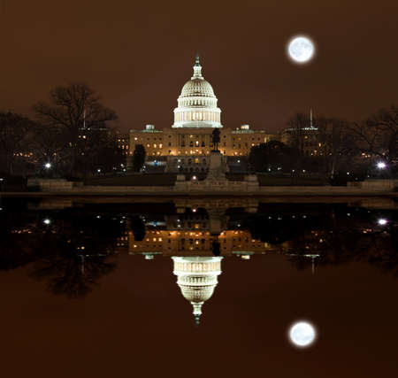 lawmaking: United States Capitol Building at night in Washington DC