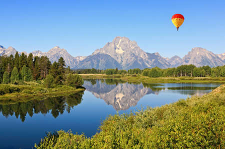 The Oxbow Bend Turnout Area in Grand Teton National Park photo