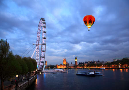 The London Eye and Big Ben in London  photo