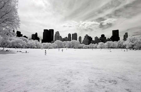Infrared image of the Central Park in Manhattan Stock fotó - 30199318
