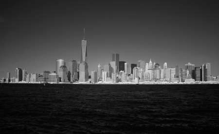 wtc: Infrared image of the Lower Manhattan from the Liberty Park in NJ