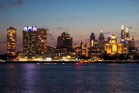 The downtown Philadelphia skylines at sun set Reklamní fotografie