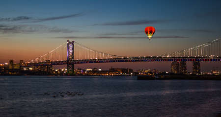 Ben Franklin Bridge in Philadelphia at sun set