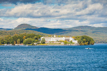 Lake George – OCTOBER 8: The historical Sagamore Hotel opened in 1893 in Lake George, New York States, Untied States. OCTOBER 8, 2017