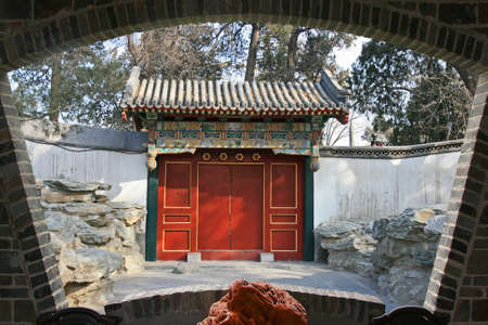 The top tourist spot - North-Lake Park in the center of Beijing 版權商用圖片 - 108683401