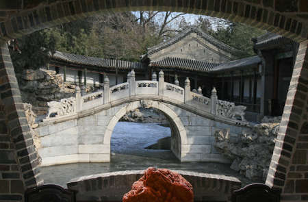 The top tourist spot - North-Lake Park in the center of Beijing 版權商用圖片 - 108758323